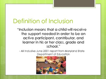 Social Inclusion:  Playing, Learning & Growing Together