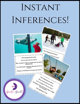 Instant Inferences! Inference cards for social skills and abstract language