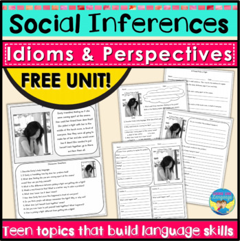 Social Skills Activities | Teen Problem Solving | Social Inferences Free Unit