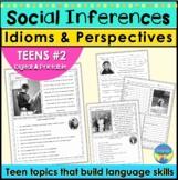 Social Skills Activities   Teen Social Inferences Idioms P