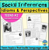 Social Skills Activities | Teen Social Inferences Idioms P