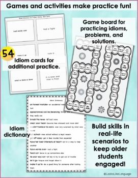 Social Skills Teen Activity: Idioms, Body Language, Social Problem Solving 1