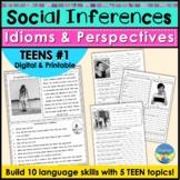 Social Skills Teen Activity: Idioms, Body Language, Social