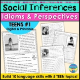 Social Skills Activities Distance Learning | Teen Social Inferences Problems 1