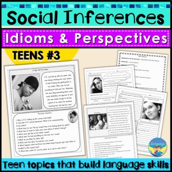 Social Skills Activities   Teen Social Inferences   Problem Solving 3