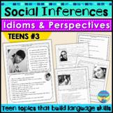 Social Skills Teen Activities: Idioms, Body Language, Soci
