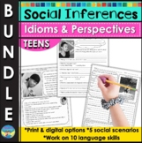 Social Skills Activities Distance Learning Bundle   Teen Social Inferences