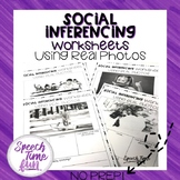 Social Inferencing Worksheets Using Real Photos (no prep)