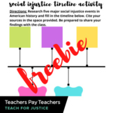 Social Injustice Timeline Activity and Single Class Period