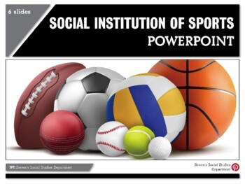 Social Institution of Sports PPT