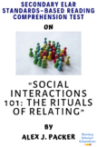 Social Interactions 101: ... by Alex J. Packer MC Reading Comprehension Test