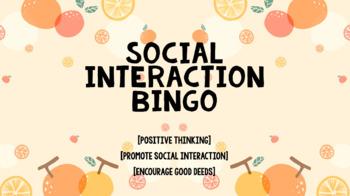 Social Interactions Bingo