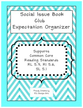 Social Issue Book Club Expectation Organizer