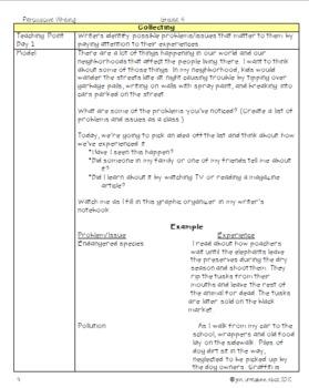 Social Issue Persuasive Writing Unit common core aligned