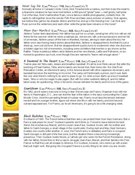 Social Issues Book Club Text Suggestions