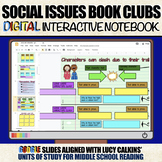 Social Issues Book Clubs: DIGITAL Interactive Notebook (Un