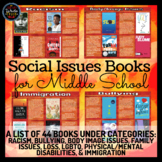 Social Issues Book List for Middle School: 44 Books!
