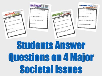 Social Issues of the 1920's: Palmer Raids, Nativism, Prohibition Scopes Activity