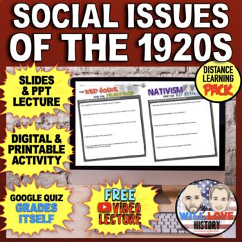 Social Issues of the 1920's: Palmer Raids, Nativism, Prohibition, Scopes Bundle
