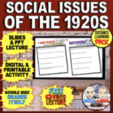 Social Issues of the 1920's: Palmer Raids, Nativism, Prohibition, Scopes Bundle