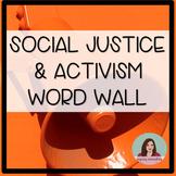 Social Justice & Activism Word Wall