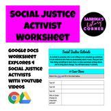 Social Justice Activist Assignment