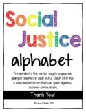 Social Justice Alphabet WHITE