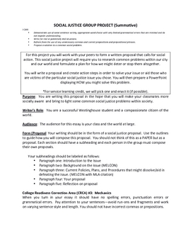 Social Justice: Autobiography Lesson Packet (Student Worksheets)
