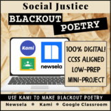 Social Justice Blackout Poetry: Mini-Project | Distance Learning