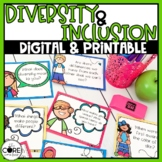 Diversity and Inclusion Prompt Cards K-6   Social Justice Discussion Starters