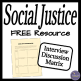 Social Justice Free Discussion Activity for Middle and Hig