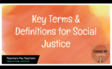 Social Justice Key Terms and Definitions Slides- Just Merc