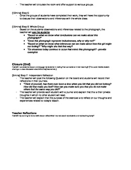 Social Justice Lesson Plan- Inclusion (critical analysis)