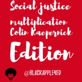 Social Justice Multiplication: Colin Kapernick Edition