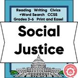 Social Justice Book Report and Genre Study CCSS Grades 3-6