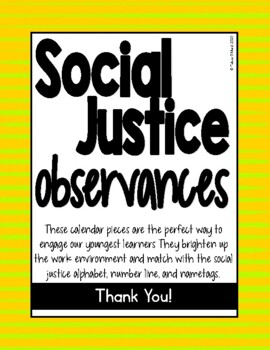 Social Justice Observances