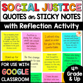 Social Justice Quotes on Sticky Notes