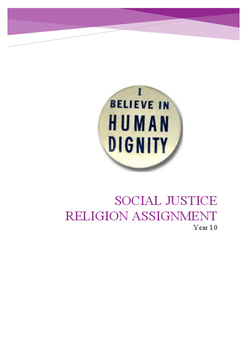 Social Justice Religion Assignment