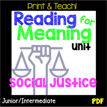 Social Justice S.L.A.M. Reading Response Unit, PDF