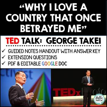 Social Justice TED Talk (George Takei) - Guided Notes and Discussion Questions
