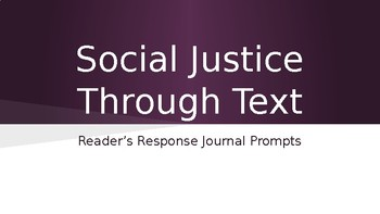 Social Justice Through Text Question Stems