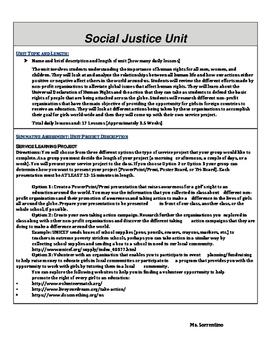 Social Justice Unit Plan