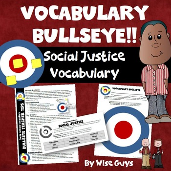 Social Justice Vocabulary Bulls Eye Game