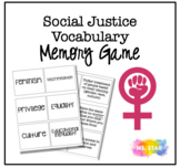 Social Justice Vocabulary Memory Game
