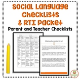 Social Skills RTI Packet