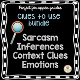 Social Skills Activity Bundle: Sarcasm, Inferences, Context Clues, Emotions