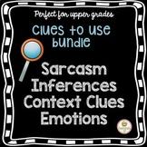 Social Skills Activity Bundle Sarcasm Inferences Context Clues Emotions