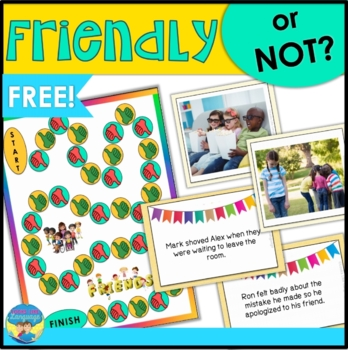 Social Skills Activities FREE Bonus Set | Friendly or Not? Game