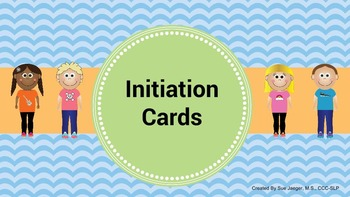 Social Language Initiation Cards