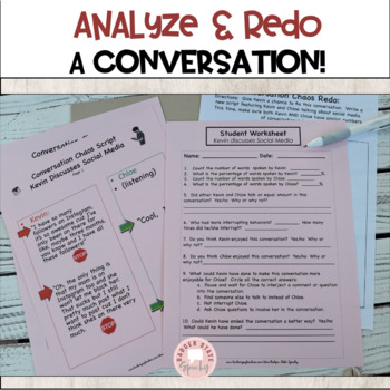 Social Language: Let's Talk about Conversations.  For Middle & High School